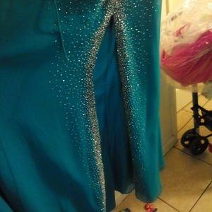 Tiffany Designs Dresses - Turquoise long Tiffany